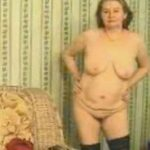 Euro Granny Strips Down